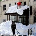 湯檜曽の雪下ろし