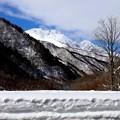 谷川岳の冬景