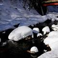 湯檜曽川の雪帽子