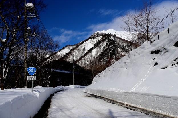 谷川岳への雪道