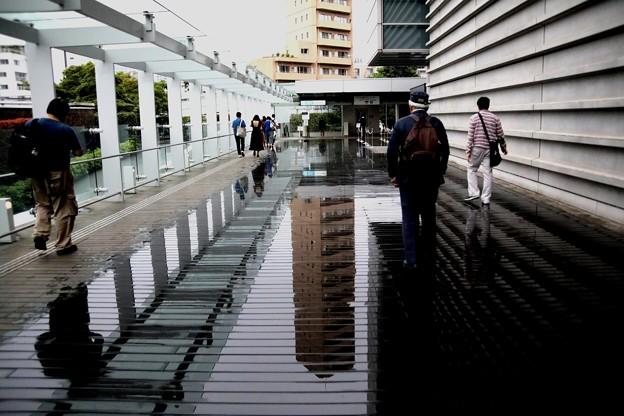 雨の日の国立新美術館風景1