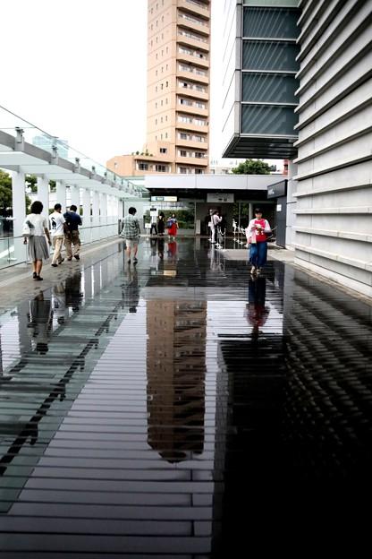 雨の日の国立新美術館風景4