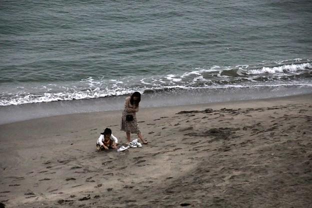 江之島の砂の海岸