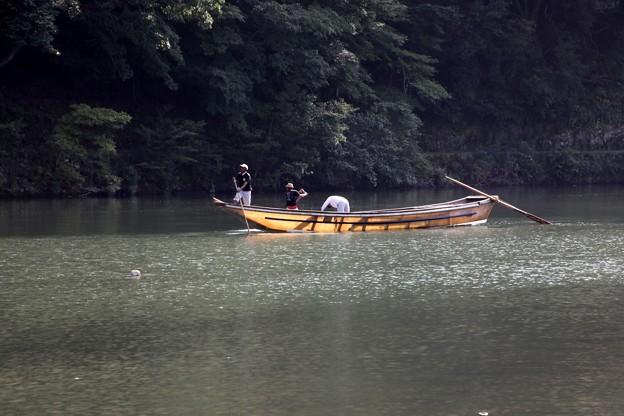 嵯峨野 舟の運行