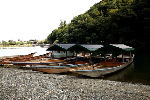 嵯峨野 保津川下船場風景