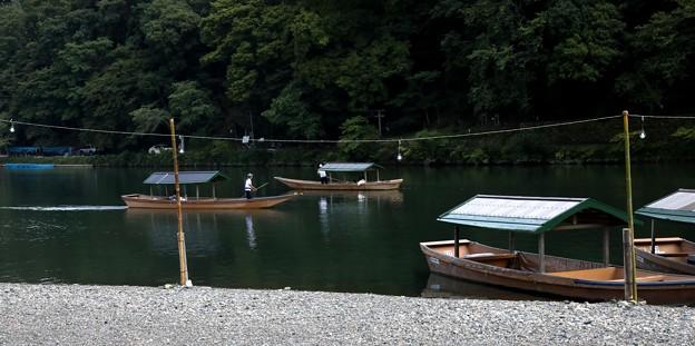保津川 舟の運行風景