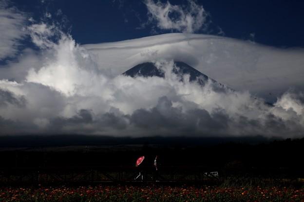 富士山の乱気流