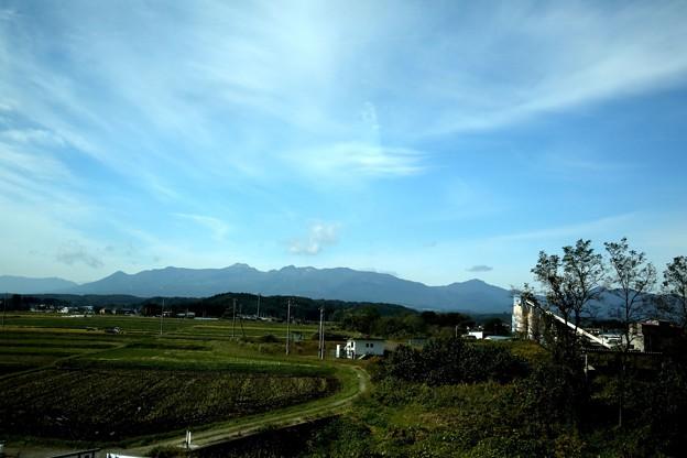 安達太良山への車窓よりの風景