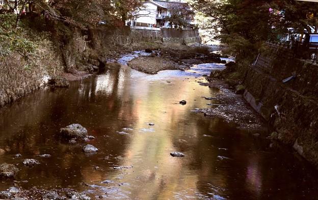 袋田の滝 滝川の水面
