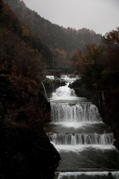 降雨の田原の滝