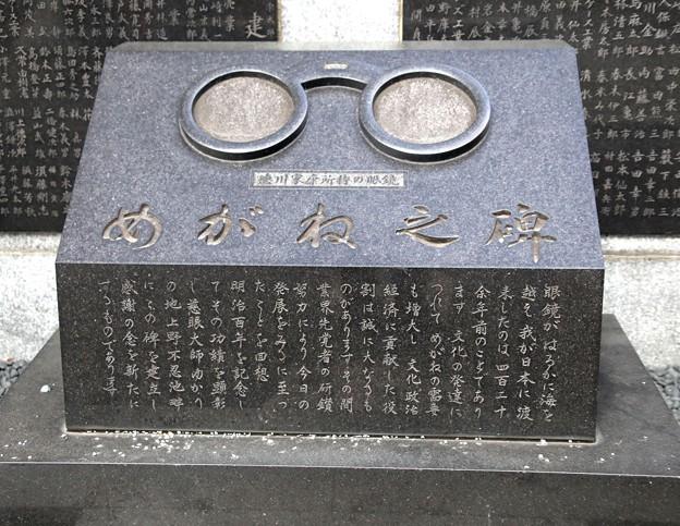 メガネの碑文