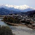 Photos: 利根川と谷川岳残雪風景
