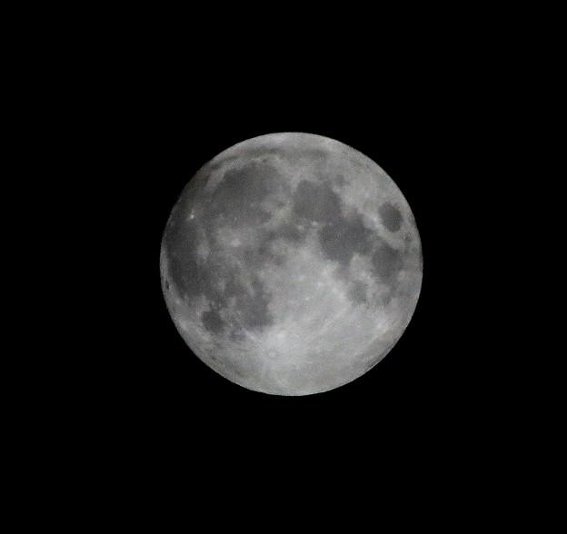 Photos: ストローベリームーンの月