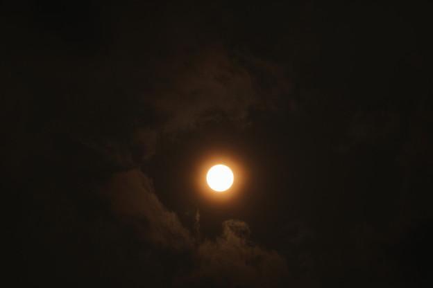 雲の合間の太陽