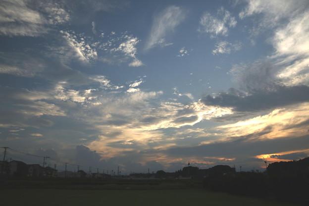 雷雨の後の青空