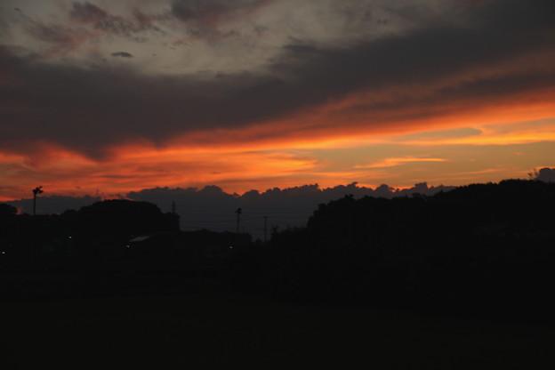 今日の夕焼け1