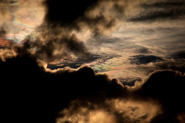 夕方の雲 彩雲2