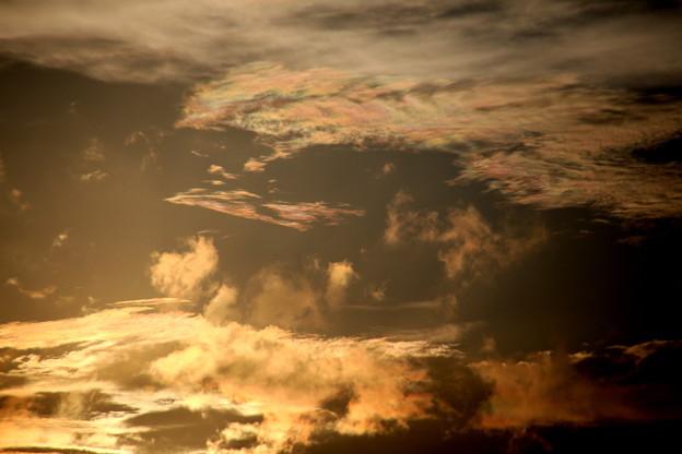 夕方の雲 彩雲7