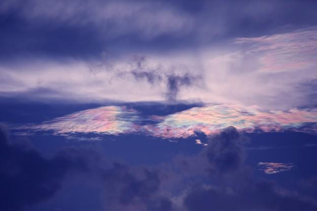 夕方の空 彩雲5