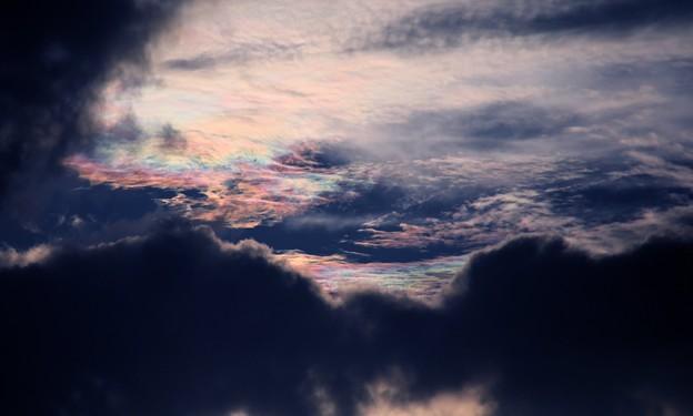 夕方の雲 彩雲1