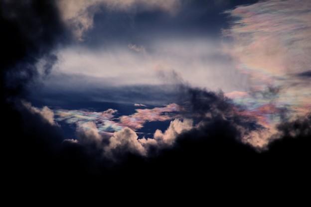 夕方の雲 彩雲3