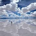 天空の鏡。ウユニ塩原(ボリビア)標高3700