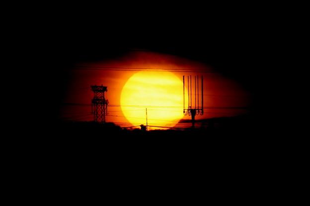 今日の日没(20201021)