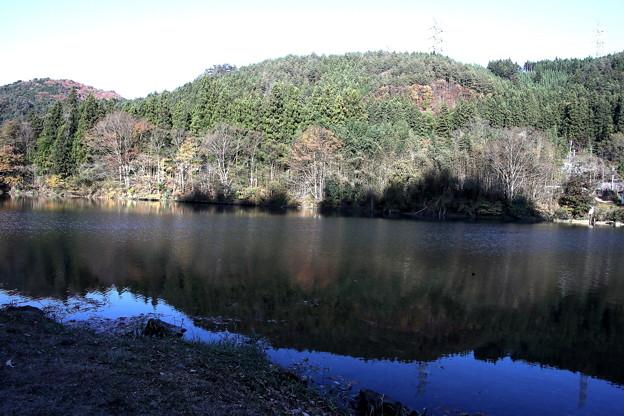 四万湖紅葉の反映2