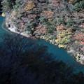 寸又峡のチンダル湖の紅葉