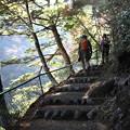 Photos: 紅葉見ながら階段上り