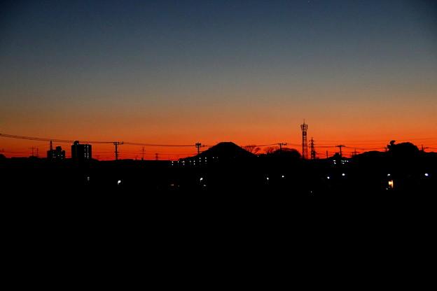 2021年1月2日 暮れゆく富士山