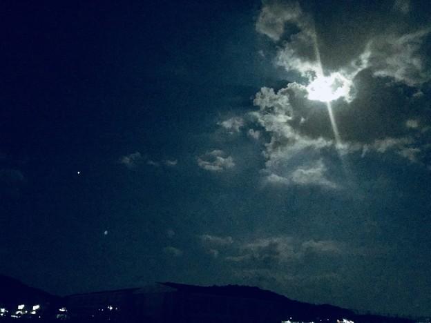 写真: 月と火星