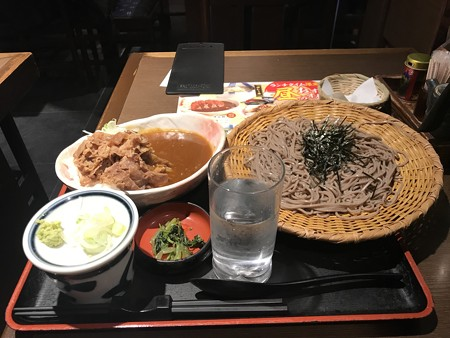 牛カレー丼定食