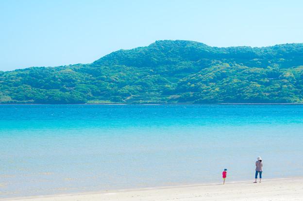 千里ヶ浜の青