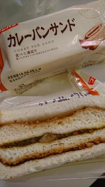 つい、買ってしまった。確かにカレーパンがサンドだったwww