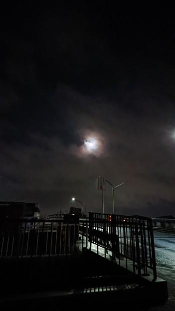 雨上がった☆今夜は満月だったんだな。