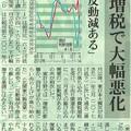 消費税増税で大幅悪化