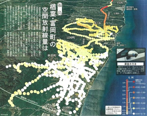楢葉・富岡の空間放射線量は