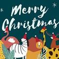 Photos: animal-theme-merry-christmas-card-vector_53876-66601