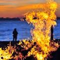 写真: 14炎の陽炎?