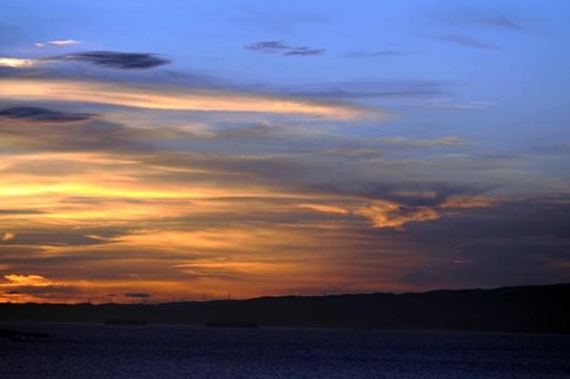 02 朝焼け雲と青空