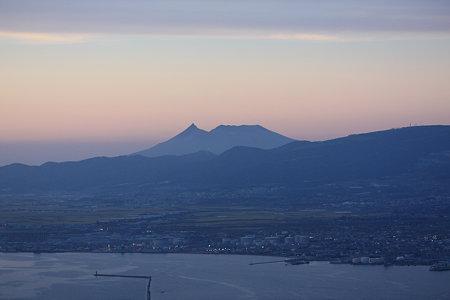 夕暮れ時の駒ケ岳