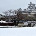 姫路城 雪景色