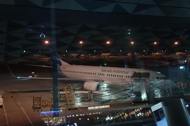 ジャカルタ国際空港にて