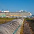 田舎の大型客船