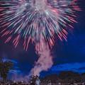 写真: 人吉城跡を照らし