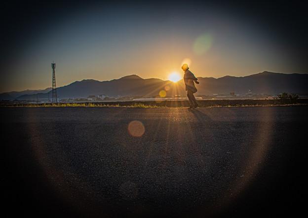 Photos: 朝日浴びて