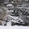 石橋の雪景色