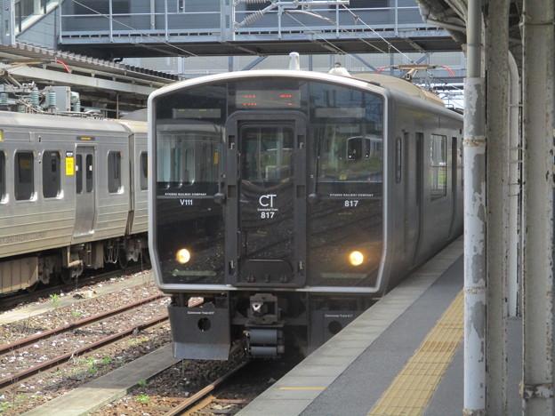 直方駅に並ぶ817系 2