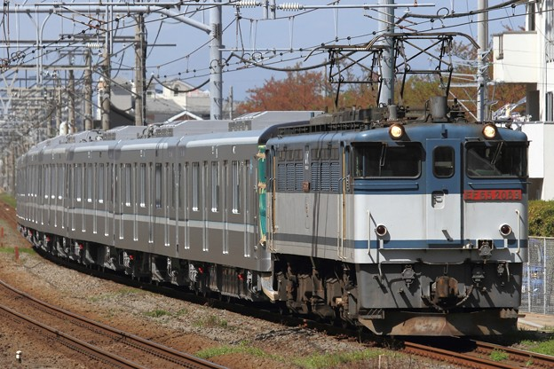 8860レ EF65 2089+東京メトロ13000系13118F 7両